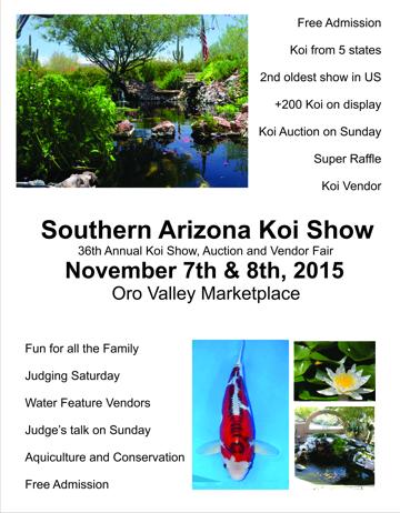2015 koi show poster