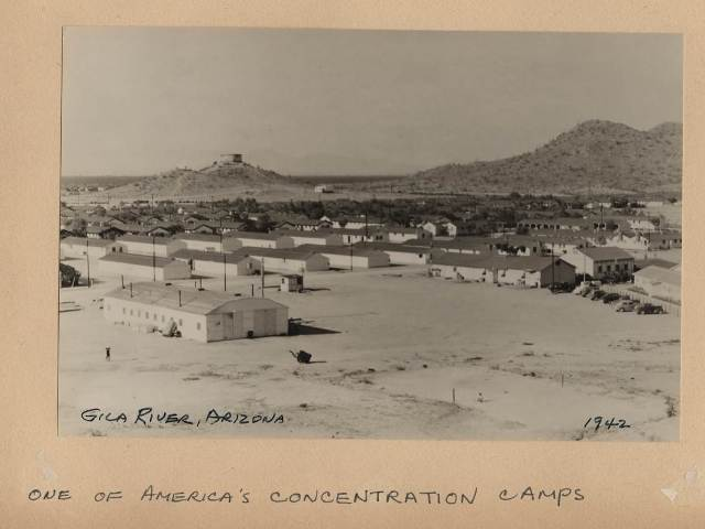 Gila River Internment Camp during WWII, courtesy of Dr. Karen Leong