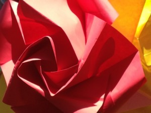 rose origami creation by M Craig