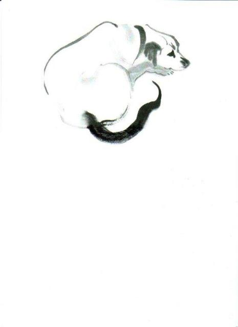 sumi-e painting by artist Joy Mills